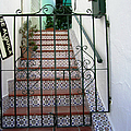 Spanish Steps Tile Work In Mijas Spain by John Shiron