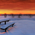 Spectaculat Winter Sunset by Jaroslaw Grudzinski