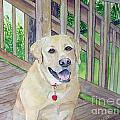 Spencer On Porch by Carol Flagg