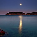 Spinalonga Full Moon by Christos Tsoumplekas