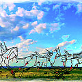 Spirit Warriors - Little Bighorn Battlefield Indian Memorial by Gary Baird