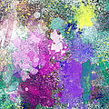 Splattered Colors Abstract by Debbie Portwood