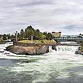 Spokane Falls From The Lincoln Street Bridge by Lee Santa