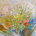 Spring - Square Painting by Petia Papazova