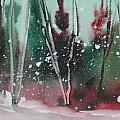 Spring Snowfall  by Mohamed Hirji
