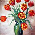 Spring Tulips by Karin  Leonard