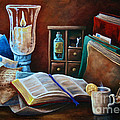 Srb Candlelit Library by Susan Herber