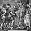 St. Ambrose & Theodosius by Granger