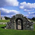 St Brigids Church, Inis Cealtra Holy by The Irish Image Collection