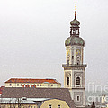 St. George In Snow - Freising Bavaria Germany by Christine Till