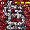 St. Louis Cardinals World Series Bottle Cap Mosaic by Paul Van Scott