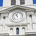 St Louis Cathedral Clock Jackson Square French Quarter New Orleans by Shawn O'Brien