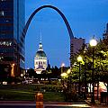 St Louis Old Court House And Arch by Cardell Jordan