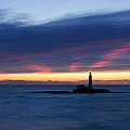 St Marys Lighthouse Sunrise by David Pringle