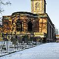 St Modwen's Church - Burton - In The Snow by Rod Johnson