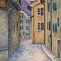 St Ursanne In Snow by Scott Nelson