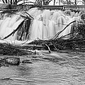 St Vrain River Waterfall Slow Flow Bw by James BO  Insogna