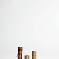 Stacks Of Various European Union Coins by Halfdark