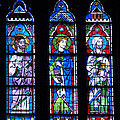 Stain Glass At Notre Dame Cathedral Parus by Jon Berghoff