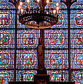Stained Glass At Notre Dame Cathedral by Jon Berghoff