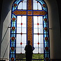 Stained Glass Cross Window Of Hope by Aimee Mouw