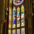 Stained Glass Of St Michaels Basilica by Patricia L Davidson