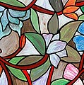 Stained Glass Wild  Flowers by Cynthia Amaral