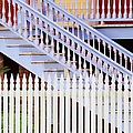 Stairs And White Picket Fence by Jeremy Woodhouse