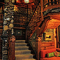 Stairway In Gillette Castle Connecticut by Dave Mills