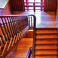 Stairway In Old Naval Hospital by Steven Ainsworth