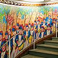 Stairway Mural At Montmartre Metro Exit by Jon Berghoff