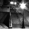 Stairway To Montmartre At Night by Greg Matchick