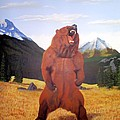 Standing Grizzly  by Mickael Bruce