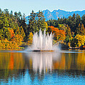 Stanley Park Fountain by Lynn Bauer