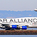 Star Alliance Airlines And United Airlines Jet Airplanes At San Francisco Airport Sfo . Long Cut by Wingsdomain Art and Photography