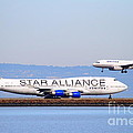 Star Alliance Airlines And United Airlines Jet Airplanes At San Francisco International Airport Sfo  by Wingsdomain Art and Photography