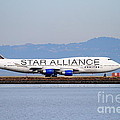 Star Alliance Airlines Jet Airplane At San Francisco International Airport Sfo . 7d12199 by Wingsdomain Art and Photography