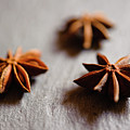 Star Anise On Slate Tray by Alexandre Fundone