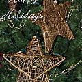 Star Holiday Card by Sabrina L Ryan