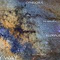 Star Map Version The Milky Way And Constellations Scorpius Sagittarius And The Star Antares by Guido Montanes Castillo