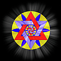 Star Of David Two by Endre Balogh