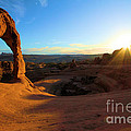 Starburst At Delicate Arch by Adam Jewell