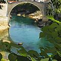 Stari Most Or Old Town Bridge Over The by Trish Punch