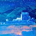 Starry Night Eilean Donan Castle by Louise Grant