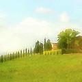 Stately Cypress Villa Pastel by Vicki Hone Smith
