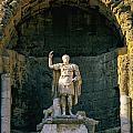 Statue De L'empereur Auguste Dans Le Theatre D'orange. by Bernard Jaubert