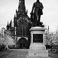 Statue Of David Livingstone Outside Glasgow Cathedral Scotland Uk by Joe Fox