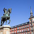 Statue Of King Philip IIi At Plaza Mayor by Artur Bogacki