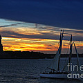 Statue Of Liberty At Sunset by Nishanth Gopinathan
