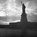 Statue Of Liberty At Sunset by Underwood Archives